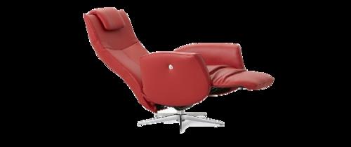 Relaxstoel Rood Leer.Prestige