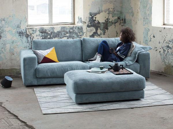 Comfortabele Grijze Hoekbank.5x Favoriete Blauwe Banken